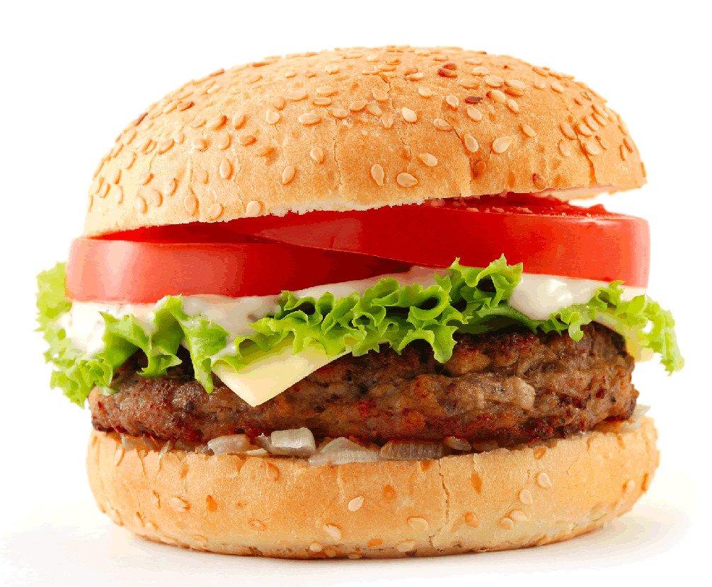 Бургер с горчицей
